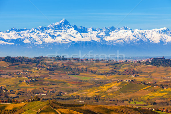 Autumnal hills and mountains in Italy. Stock photo © rglinsky77