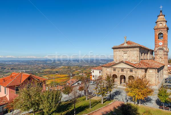 Церкви Италия красивой мнение холмы Сток-фото © rglinsky77