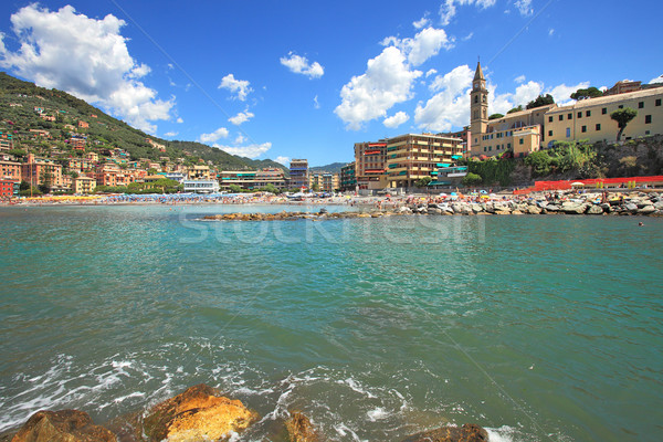 Recco - touristic town on Mediterranean sea in Italy. Stock photo © rglinsky77