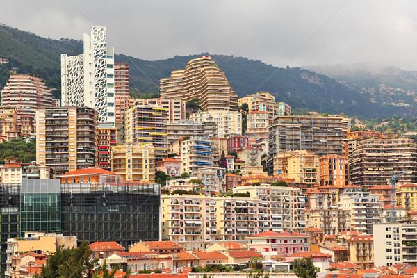 Yerleşim Bina Monaco Cityscape görmek şehir Stok fotoğraf © rglinsky77