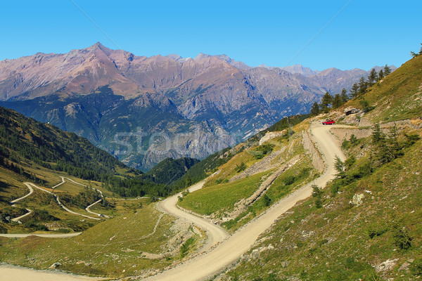 Foto stock: Estrada · montanhas · hills · norte · Itália · grama
