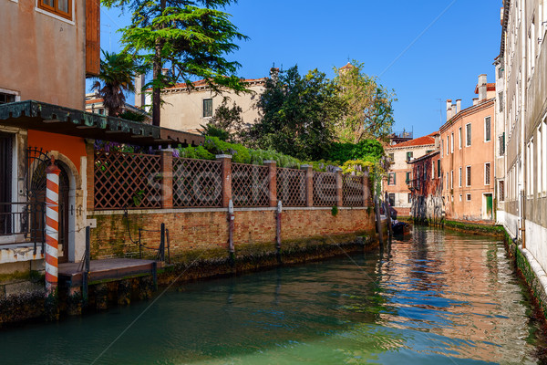 Small canal and colorful houses in Venice. Stock photo © rglinsky77