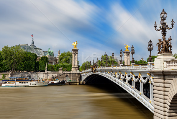 View of Alexander the III bridge in Paris, France. Stock photo © rglinsky77