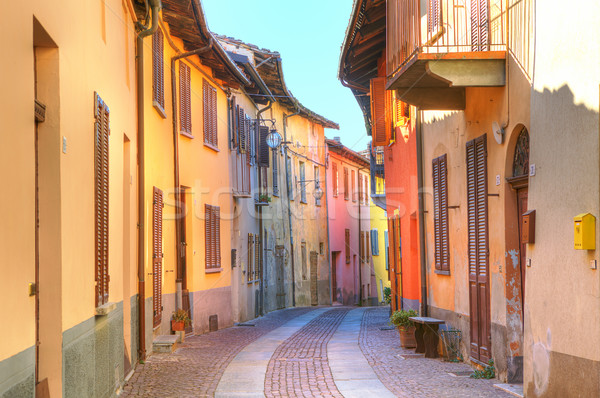 Street of Serralunga D'Alba. Piedmont, Italy. Stock photo © rglinsky77