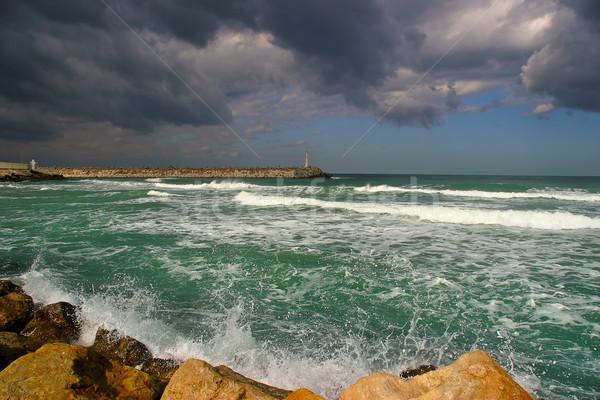 波 地中海 海 嵐の 空 ストックフォト © rglinsky77