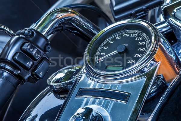 Motorcycle peedometer and handlebar. Stock photo © rglinsky77