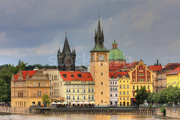 Eski Prag evler şehir mimari Stok fotoğraf © rglinsky77