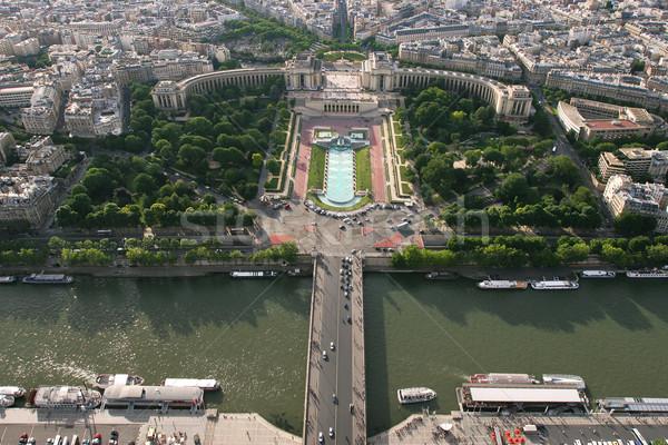 Légifelvétel Párizs folyó Franciaország város híd Stock fotó © rglinsky77