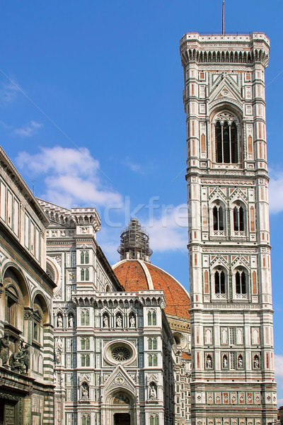 Belfry and Duomo Cathedral in Florence. Stock photo © rglinsky77