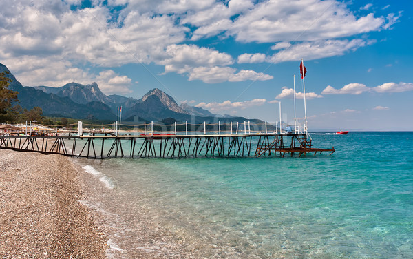 Shoreline and sea view in Kemer, Turkey. Stock photo © rglinsky77