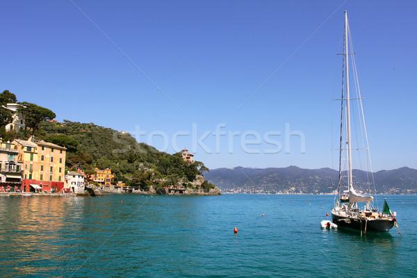 Yat görmek deniz İtalya manzara Avrupa Stok fotoğraf © rglinsky77