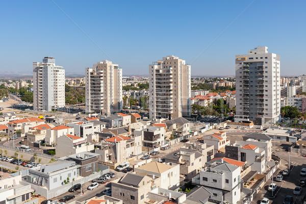 Modern yerleşim binalar İsrail çağdaş evler Stok fotoğraf © rglinsky77
