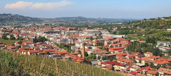 Panoramik görmek İtalya kasaba tepeler kuzey Stok fotoğraf © rglinsky77