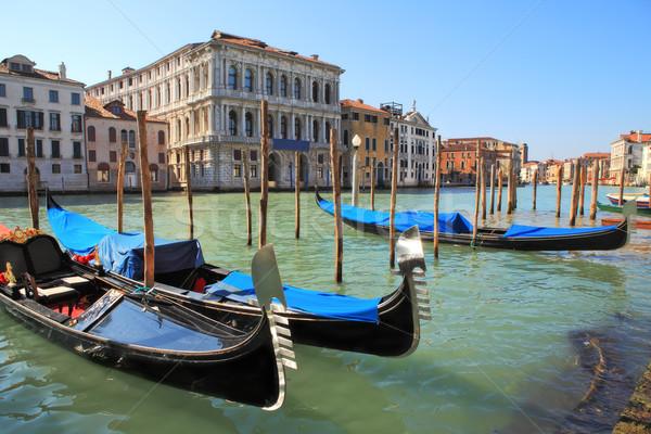 Gondolas on Grand Canal in Venice, Italy. Stock photo © rglinsky77