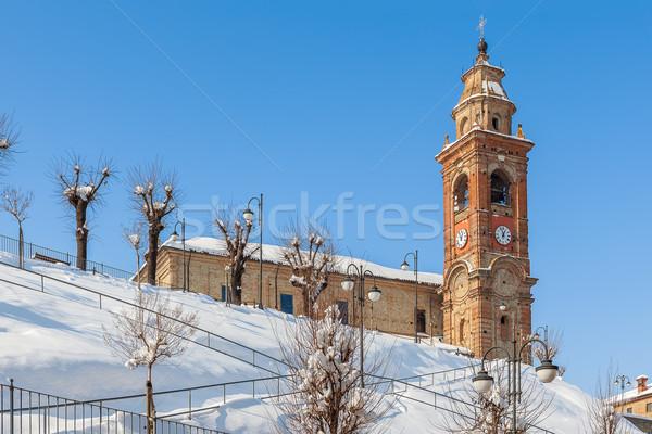 Parish church in small town. Stock photo © rglinsky77