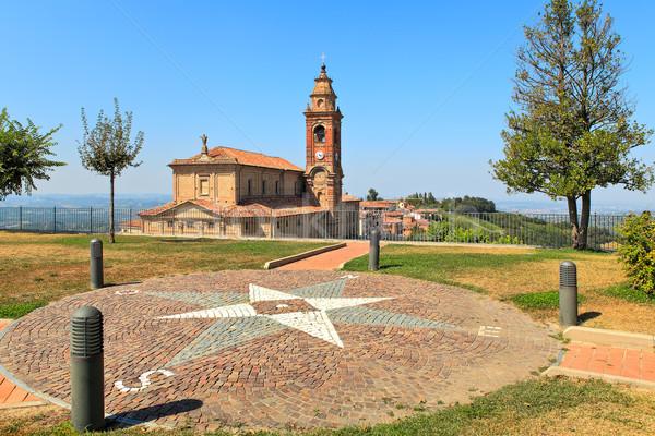 Küçük park eski kilise İtalya görmek Stok fotoğraf © rglinsky77