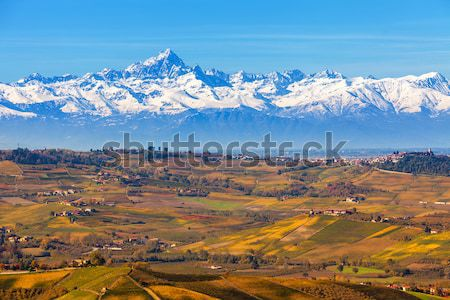 Hills and mountains. Piedmont, Italy. Stock photo © rglinsky77