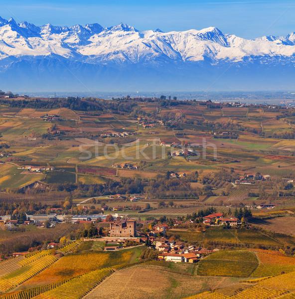 Sonbahar sonbahar tepeler dağ kuzey İtalya Stok fotoğraf © rglinsky77