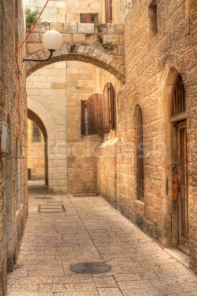 Old street in Jerusalem, Israel. Stock photo © rglinsky77