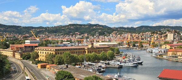 Panorama of La Spezia and naval base. Stock photo © rglinsky77