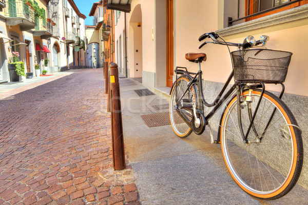 Bicycle on the street of Alba, Italy. Stock photo © rglinsky77