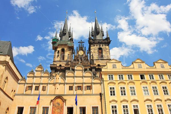 Tyn Cathedral in Prague, Czech Republic. Stock photo © rglinsky77
