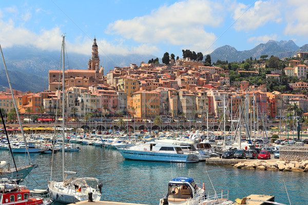 Old town of Menton, France. Stock photo © rglinsky77
