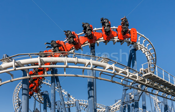 Stock photo: Roller coaster ride in Luna Park.