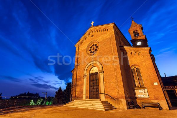 Chiesa piccolo italiana città settentrionale Foto d'archivio © rglinsky77