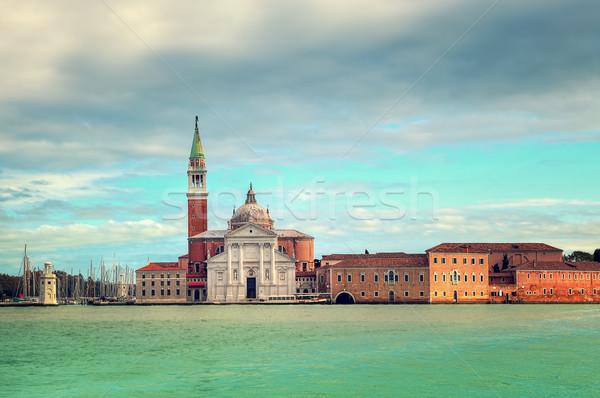 San Giorgio Maggiore church in Venice, Italy. Stock photo © rglinsky77