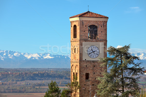 Old belfry. Santa Vittoria D'Alba, Italy. Stock photo © rglinsky77