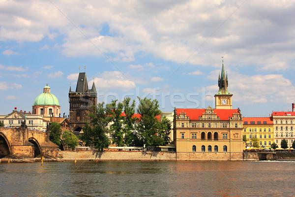 Historisch Praag rivier Tsjechische Republiek reizen Stockfoto © rglinsky77