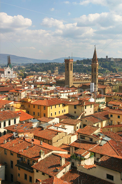 FLORENCE Italie vertical image rouge Photo stock © rglinsky77