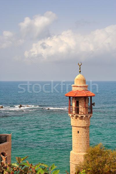Eski cami İsrail dikey görüntü minare Stok fotoğraf © rglinsky77