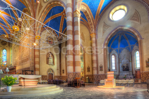 San Lorenzo Cathedral interior view in Alba, Italy. Stock photo © rglinsky77