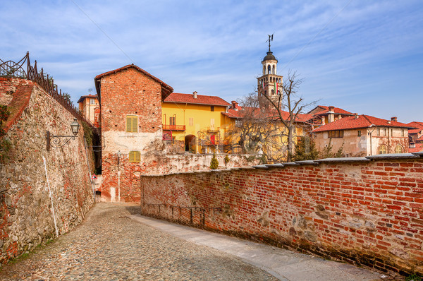 Stock photo: Old town of Saluzzo.