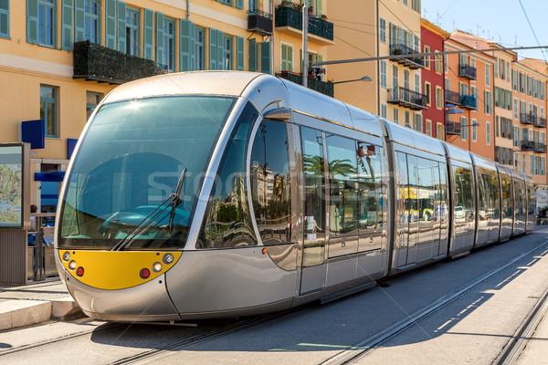 Tram in Nice, France. Stock photo © rglinsky77