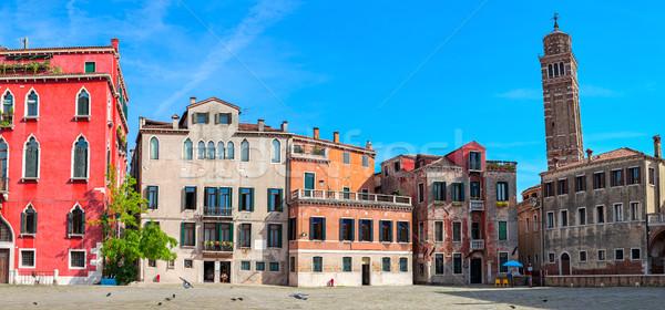 Eski evler panoramik görmek kare Stok fotoğraf © rglinsky77