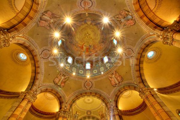 Catholic church dome. Alba, Italy. Stock photo © rglinsky77