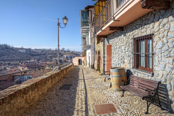 狭い 通り 古い家 ラ 北方 イタリア ストックフォト © rglinsky77