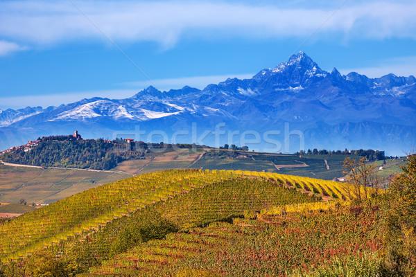 Tepeler dağlar İtalya sonbahar kuzey dağ Stok fotoğraf © rglinsky77