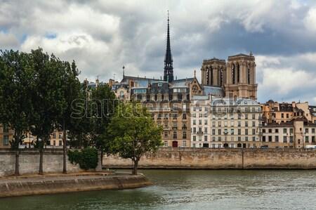 Сток-фото: здании · Париж · собора · традиционный · парижский