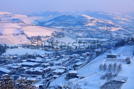 Tepeler İtalya görmek kapalı kar Stok fotoğraf © rglinsky77