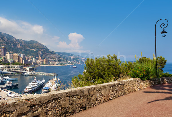 Sidewalk and view on Monte Carlo, Monaco. Stock photo © rglinsky77
