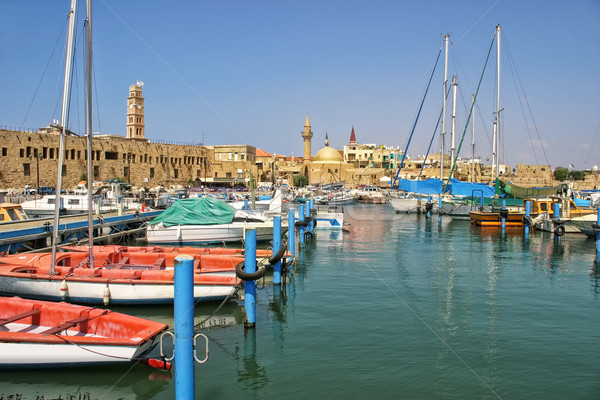 Old harbor in Acre, Israel. Stock photo © rglinsky77
