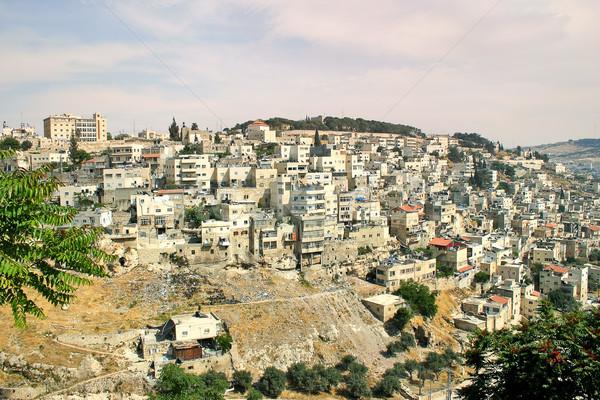 Palestinian village on the slopes of Jerusalem, Israel. Stock photo © rglinsky77