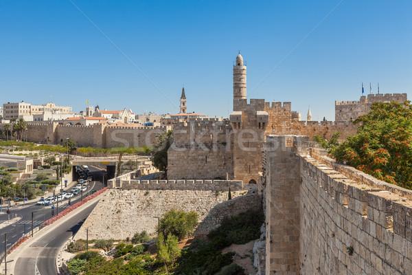 древних стен башни Иерусалим мнение старые Сток-фото © rglinsky77