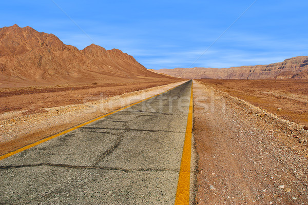 Estrada vermelho montanhas parque Israel estreito Foto stock © rglinsky77
