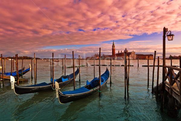 Sunset time in Venice, Italy. Stock photo © rglinsky77
