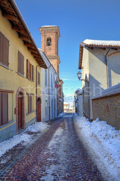 Keskeny utca Olaszország függőleges kép ház Stock fotó © rglinsky77